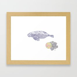 Space Manatee Framed Art Print