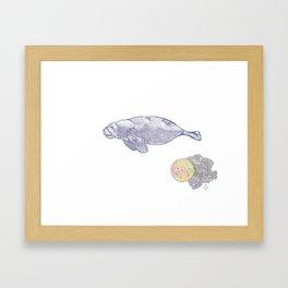 Space Manatee Framed Art Print