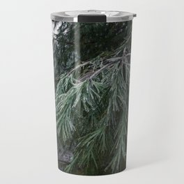 Frozen Evergreen Trees Travel Mug