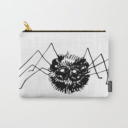 Doodle  drawing of black spider. Halloween design. Carry-All Pouch