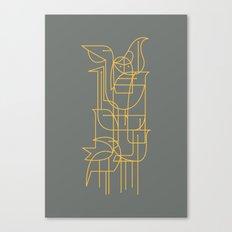 Geometric Birds Canvas Print