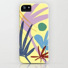 zen garden - green sun with butterfly iPhone Case