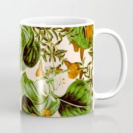 Orange Floral Botanic Coffee Mug