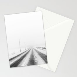 La route enneigée Stationery Cards