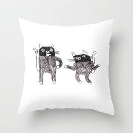 Cat Burglars Throw Pillow