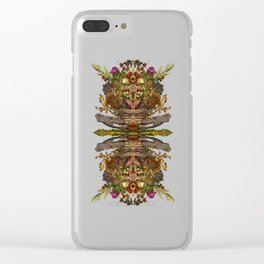 Dry Leaves 2 Clear iPhone Case