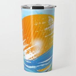 The sea absorbs the sun - Raster abstract Travel Mug