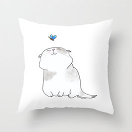Play with me, Butterfly. Throw Pillow