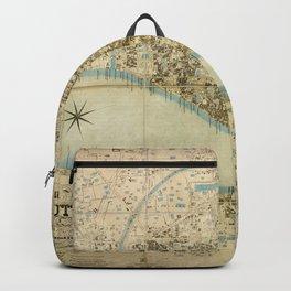 Map Of Calcutta 1857 Backpack
