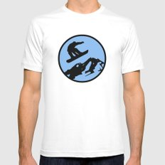 snowboarding 3 MEDIUM Mens Fitted Tee White