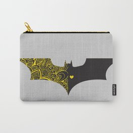 Laced Bat-man with heart Carry-All Pouch