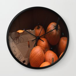 Pumpkins In a Box! Wall Clock