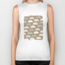 clouds pattern Biker Tank
