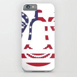 Lacrosse US Flag Head Trio iPhone Case