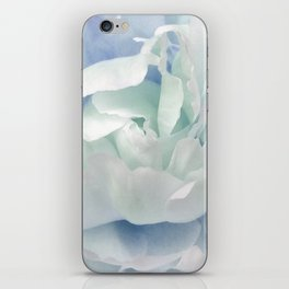 Peony in Blue White iPhone Skin