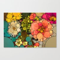 discount Canvas Prints featuring Perky Flowers! by Love2Snap