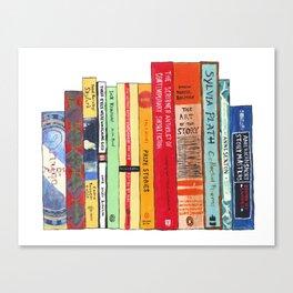 Bright Books Bookshelf Painting Canvas Print