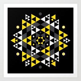Radiant Black Art Print