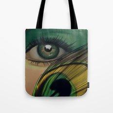 Through The Eye Of A Peacock Tote Bag