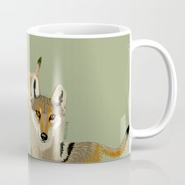 Wolves of the World: Canis lupus pallipes (c) 2017 Coffee Mug