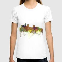 Des Moines, Iowa Skyline SG - Safari Buff T-shirt