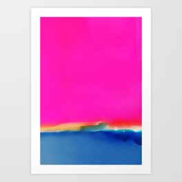 Magenta Horizon Art Print