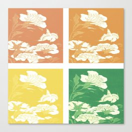 Japanese Birds & Flowers Panel Art earth tones 3 Canvas Print