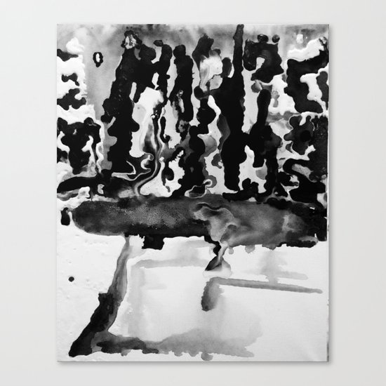 Dripping Tease in Black and White Canvas Print