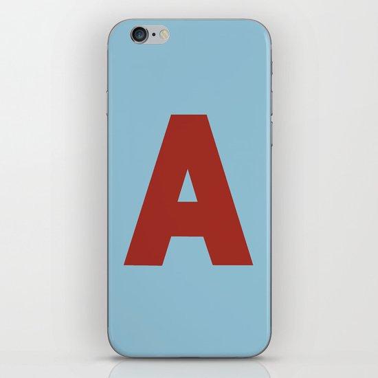 Red A iPhone & iPod Skin