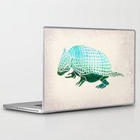 reassurance Laptop & iPad Skins featuring Watercolor Armadillo by Jacqueline Maldonado