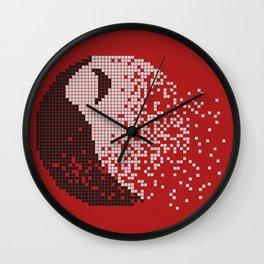 Death Planet Pixelate Wall Clock