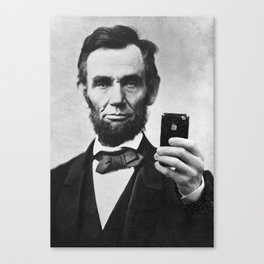 Abraham Lincoln iPhone Selfie Canvas Print
