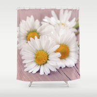 daisies Shower Curtains featuring Daisies. by Mary Berg