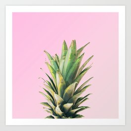 Pineapple Pink Art Print