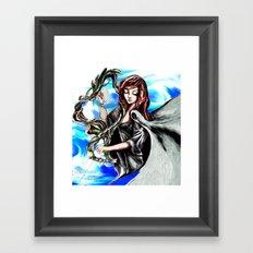 Harpist Framed Art Print