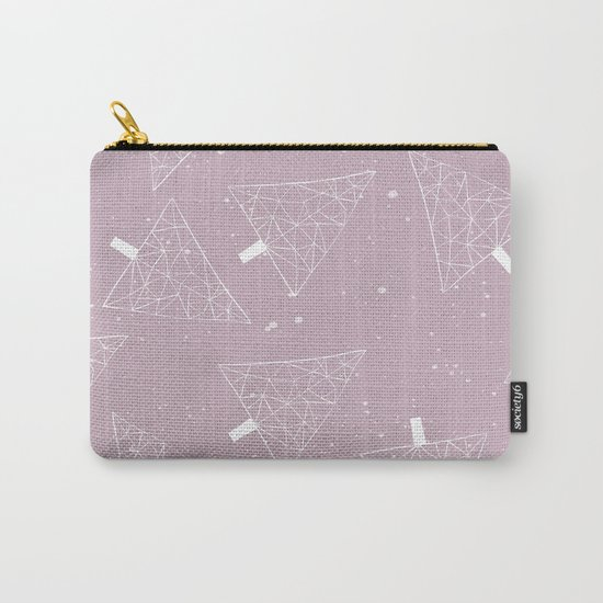 Christmas Trees Pink Carry-All Pouch