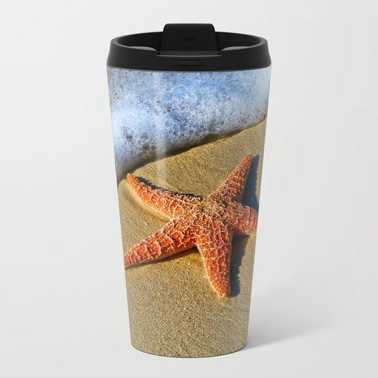 Starfish Wave Metal Travel Mug