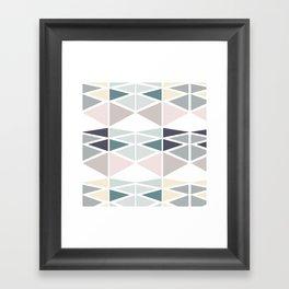 Triangles game Framed Art Print
