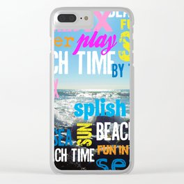 Summer Beach Time Fun Clear iPhone Case