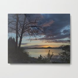 Lake Quinault Sunset, Washington Metal Print