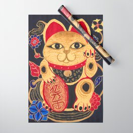 The Gold Cat Wrapping Paper