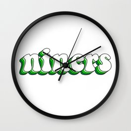 UNC Charlotte 49ers Groovy Layered Wall Clock