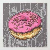 doughnut Canvas Prints featuring Doughnut by Katy V. Meehan