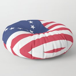 Betsy Ross flag of the USA Floor Pillow