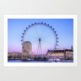 The London Eye, London Art Print