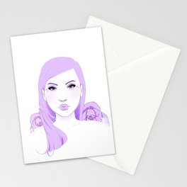Lilac Love Stationery Cards
