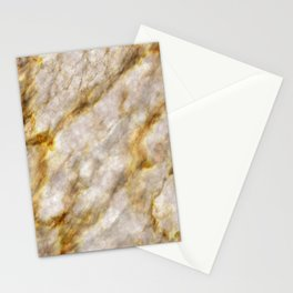 Gold Streaked Marble Stationery Cards
