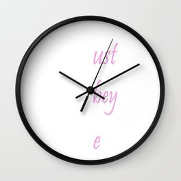 MOM Stands for Must Obey Me Funny Mother's Day T-Shirt Wall Clock