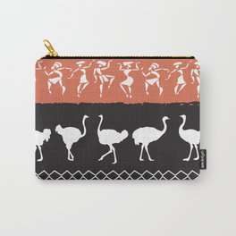 African Tribal Pattern No. 43 Carry-All Pouch
