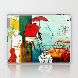 Composition Painting - Umbrella girl with woman Laptop & iPad Skin